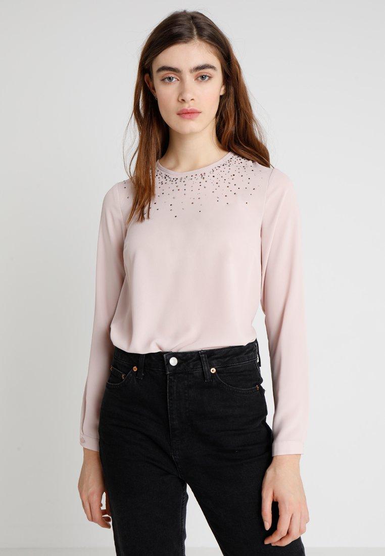 Warehouse - EMBELLISHED NECK - Bluse - blush