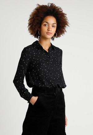 STAR PRINT - Button-down blouse - black