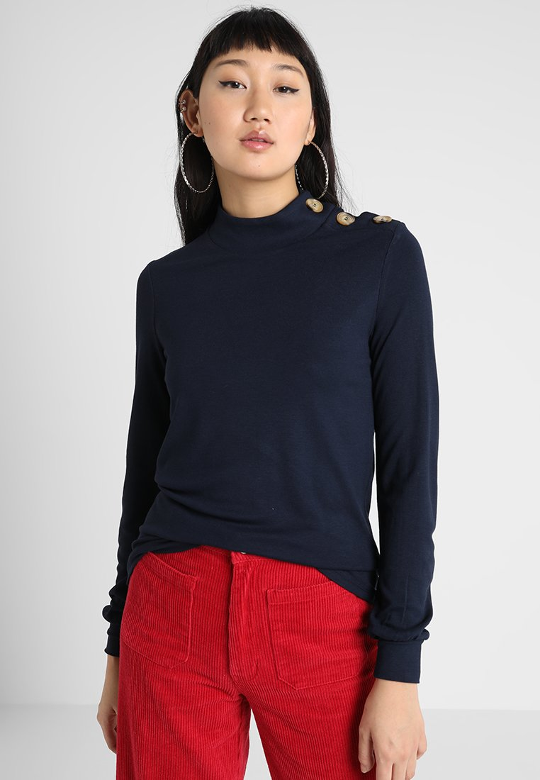 Warehouse - BUTTON SHOULDER MUTTON SLEEVE - Camiseta de manga larga - navy