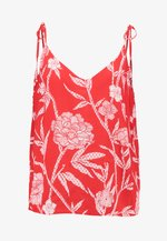 BOLD BLOOM PRINT CAMI - Top - red