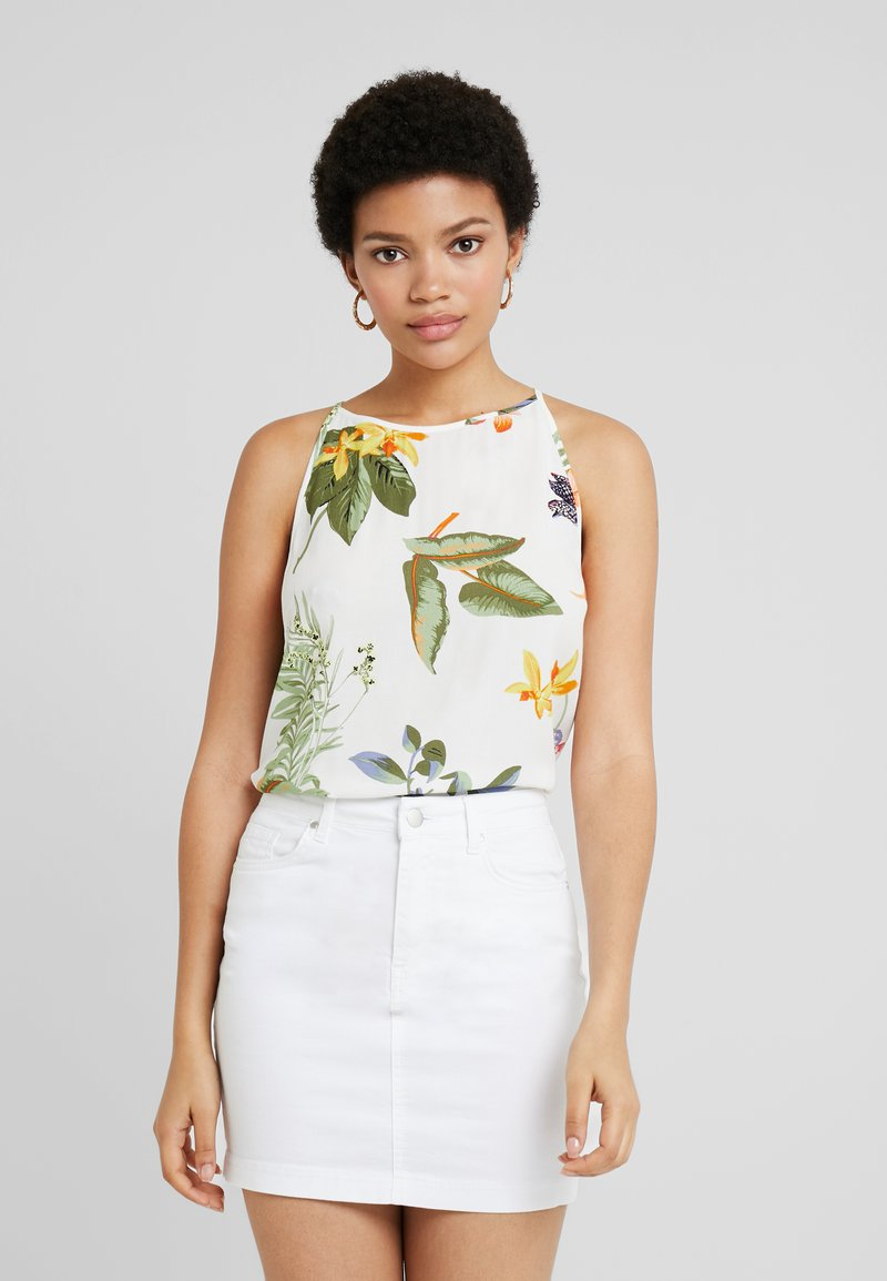 Warehouse - ISABELLA FLORAL CAMI - Top - ivory