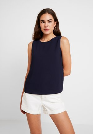 TIPPED SHELL - Blouse - navy