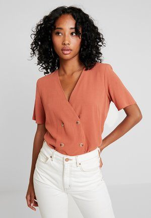 DOUBLE BREASTED - Blouse - rust