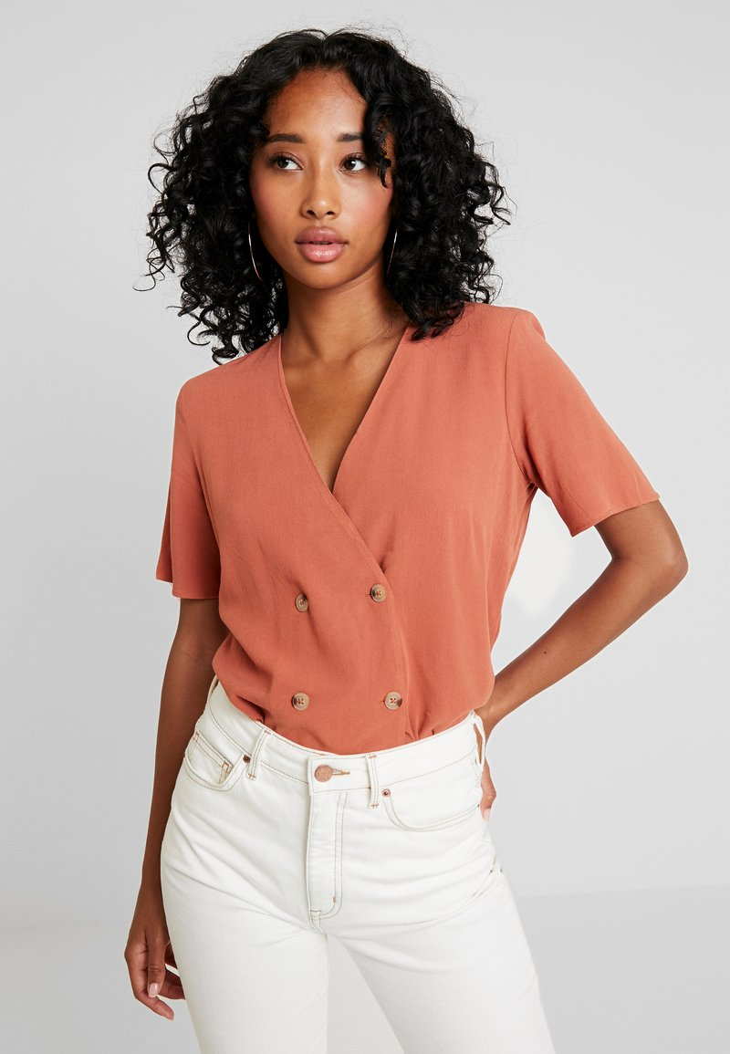 Warehouse - DOUBLE BREASTED - Blusa - rust