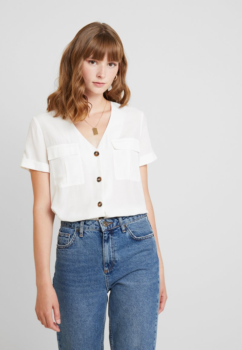 Warehouse - BUTTON FRONT - Pusero - ivory