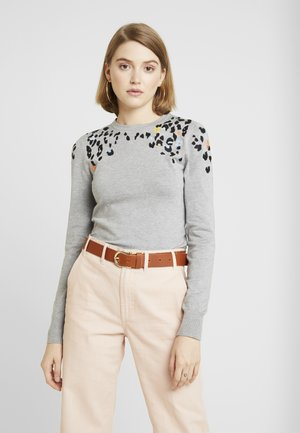 FLOWER ANIMAL JUMPER - Trui - dark grey