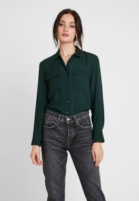 Warehouse - UTILITY LAPEL - Skjortebluser - dark green - 0