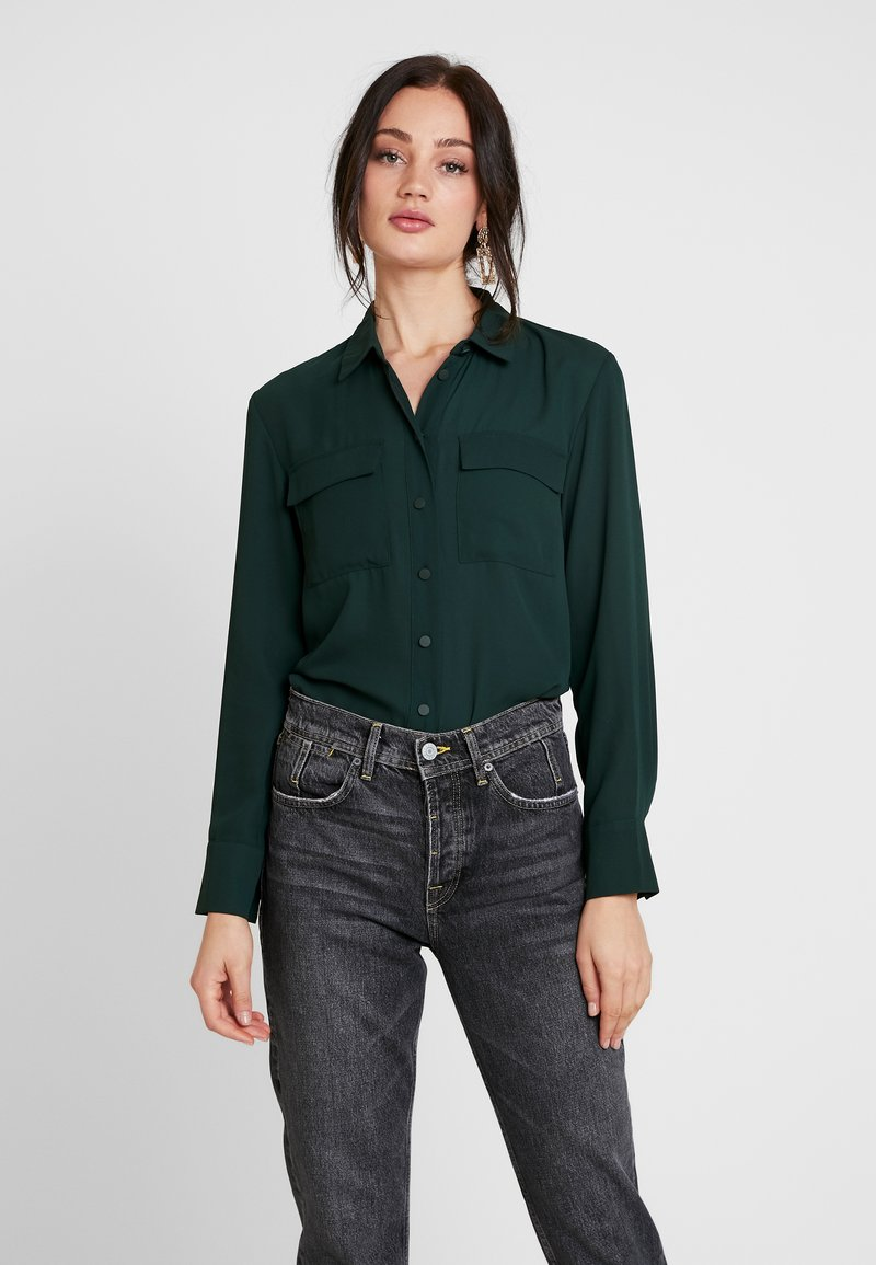 Warehouse - UTILITY LAPEL - Skjortebluser - dark green