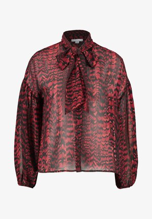 FEATHER PUSSYBOW BLOUSE - Chemisier - red