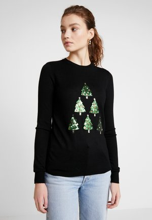 CHRISTMAS TREE JUMPER - Svetr - black
