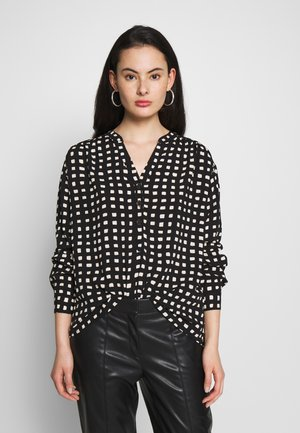 MONO SQUARE OPEN NECK - Blouse - black