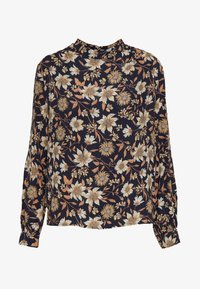 Warehouse - AUTUMN DAISY HIGH NECK - Bluse - black/beige - 4