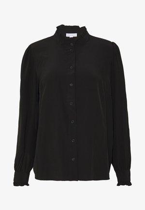 RUFFLE NECK - Camicia - black