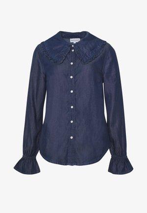 RUFFLE SHIRT - Skjorte - mid wash