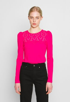EMBROIDERED VICTORIANA LONG SLEEVE - Blouse - pink