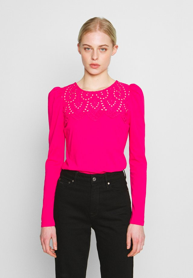 EMBROIDERED VICTORIANA LONG SLEEVE - Pusero - pink
