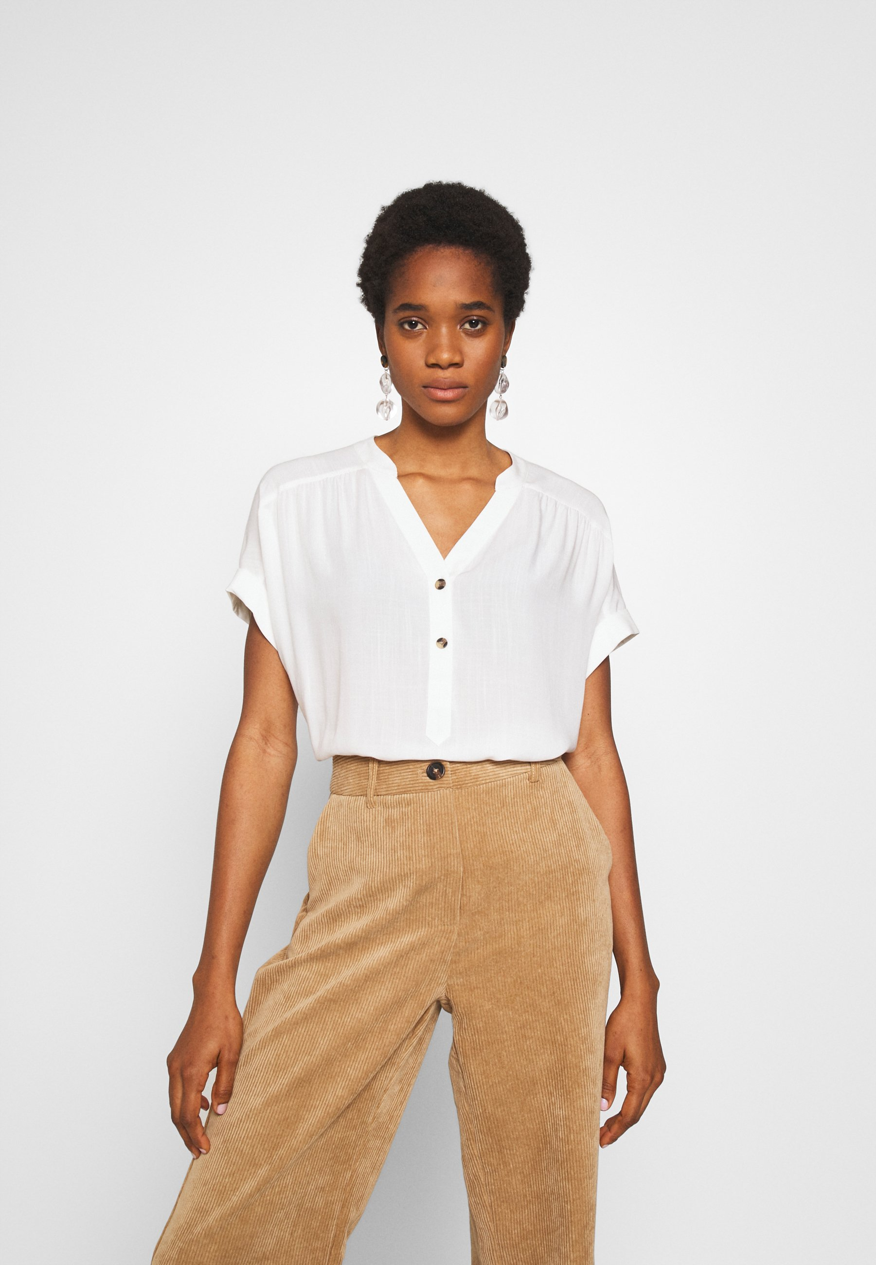 Warehouse Over The Head Top - Blouse Ivory