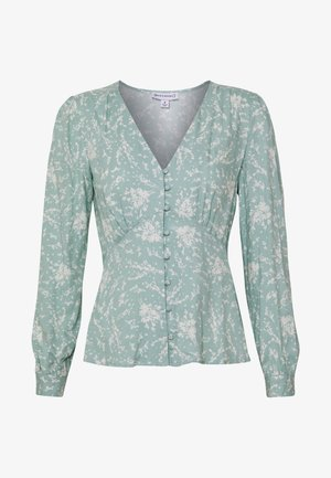 SPRIG FLORAL BUTTON THROUGH - Blus - pistachio