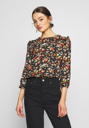 FLORAL GATHERED NECK TOP - Camicetta - multi