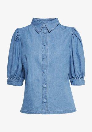 PUFF SLEEVE - Skjorte - mid wash