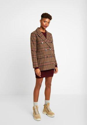 CHECK - Short coat - multi
