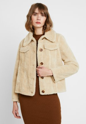 BORG BONDED JACKET - Winterjas - cream