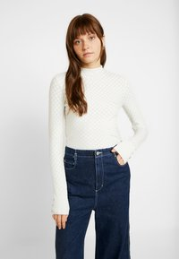 Warehouse - WAVE POINTELLE JUMPER - Trui - ivory - 0