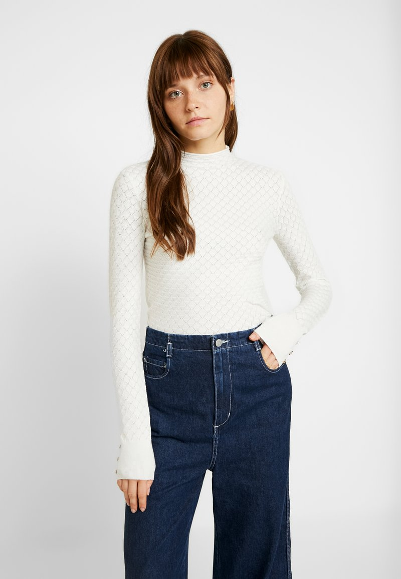 Warehouse - WAVE POINTELLE JUMPER - Trui - ivory