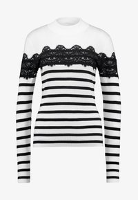Warehouse - STRIPE HIGH NECK - Trui - ivory/navy - 3
