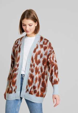 BRUSHED ANIMAL CARDIGAN - Vest - brown pattern