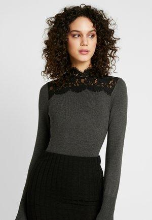 HIGH NECK JUMPER - Sweter - charcoal/black