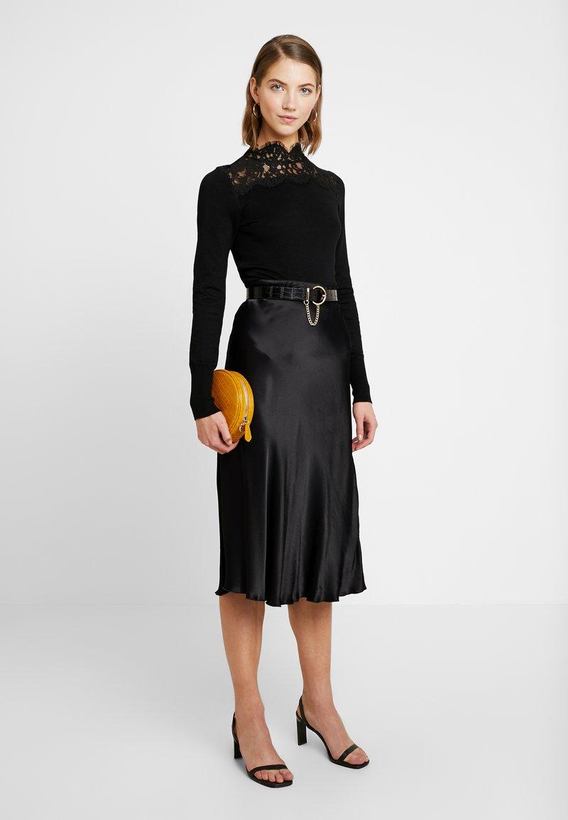Warehouse - HIGH NECK JUMPER - Pullover - black