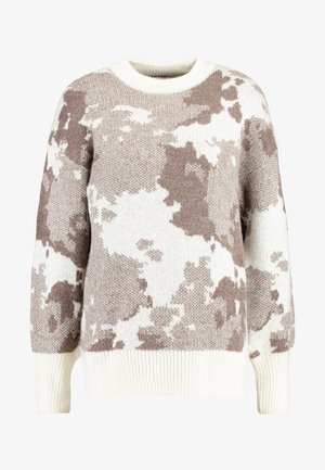 COSY COW PATTERN JUMPER - Svetr - brown/ivory