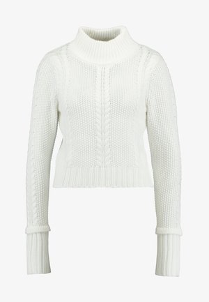 CABLE CROPPED JUMPER - Strickpullover - ivory