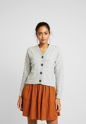 CABLE BUTTON - Cardigan - light grey