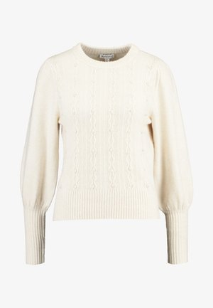 EMBELLISHED HONEYCOMB JUMPER - Svetr - cream