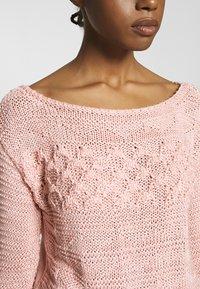 Warehouse - MIXED STITCH JUMPER - Sweter - pink - 4