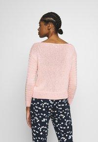 Warehouse - MIXED STITCH JUMPER - Sweter - pink - 2