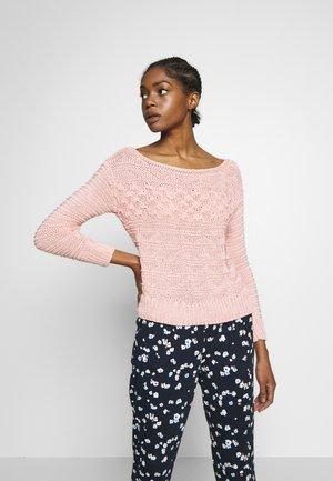 MIXED STITCH JUMPER - Maglione - pink