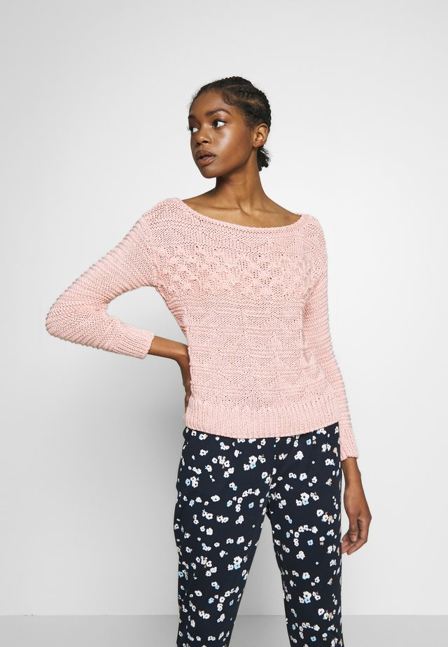 MIXED STITCH JUMPER - Strikpullover /Striktrøjer - pink