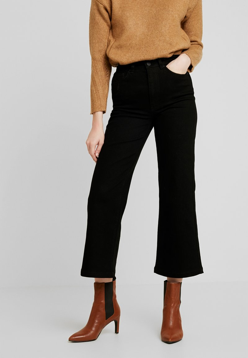 Warehouse - FLARE CUT  - Flared Jeans - black