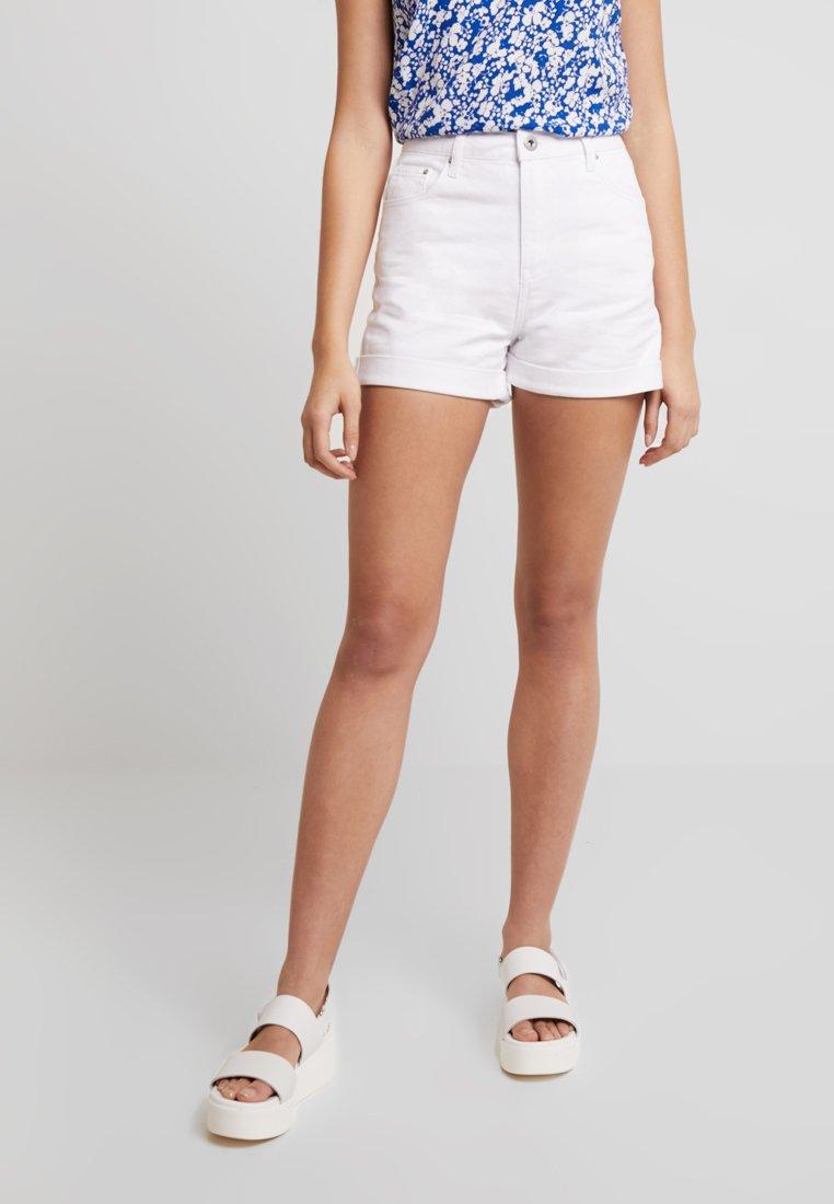 Warehouse - Denim shorts - white