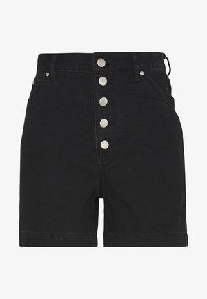 HIGH WAISTED - Jeansshort - black