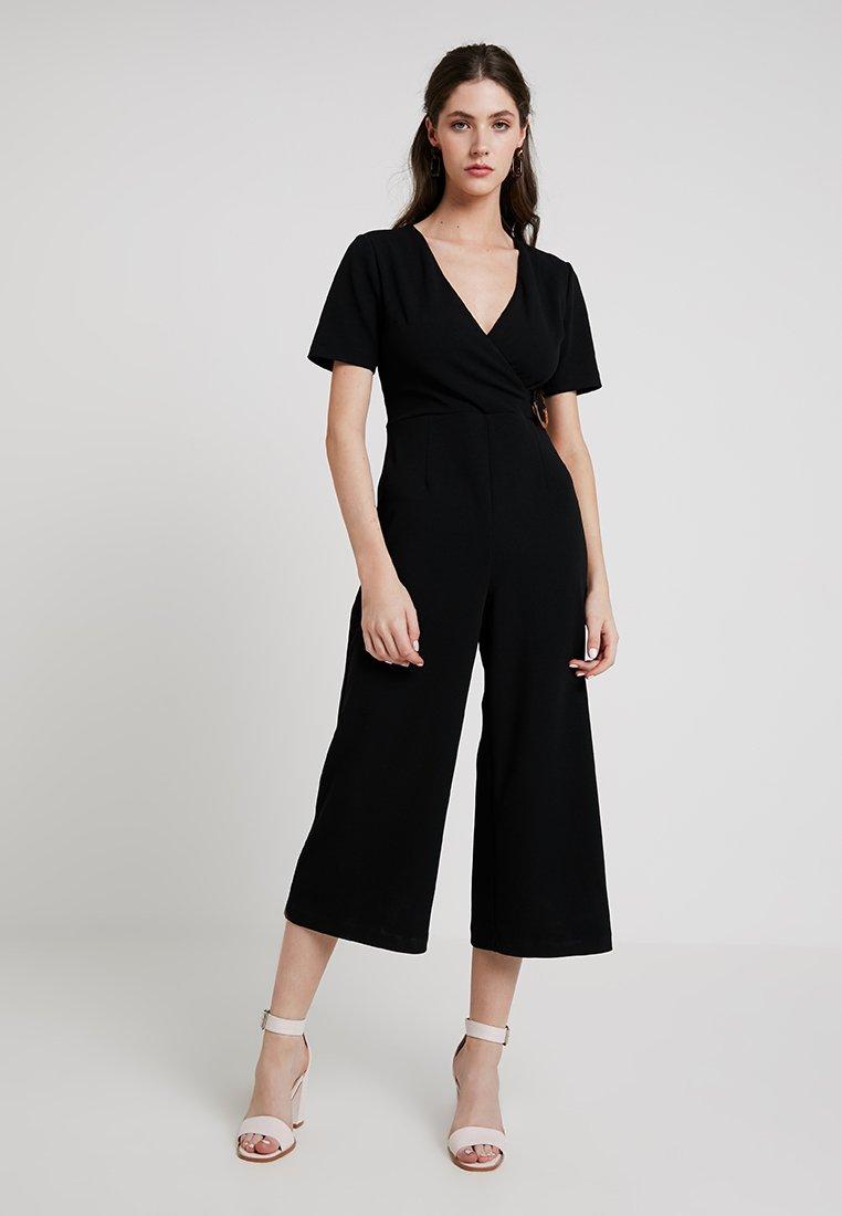 Warehouse - WRAP FRONT - Jumpsuit - black