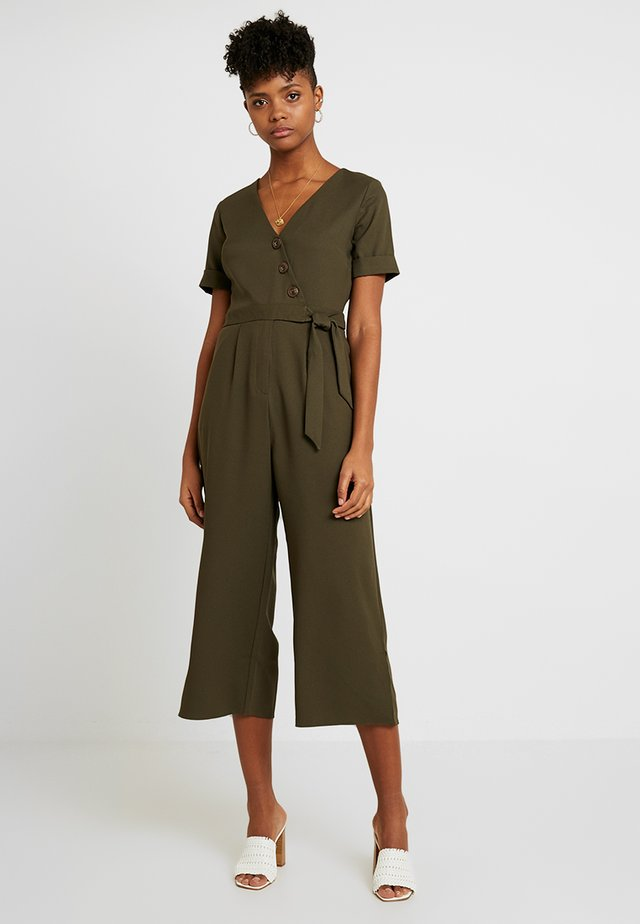 ASYMMETRIC BUTTON - Jumpsuit - khaki
