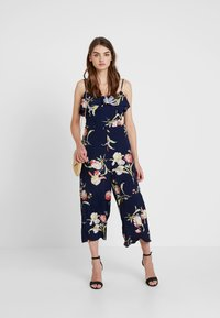 Warehouse - FLORAL - Overal - navy - 1