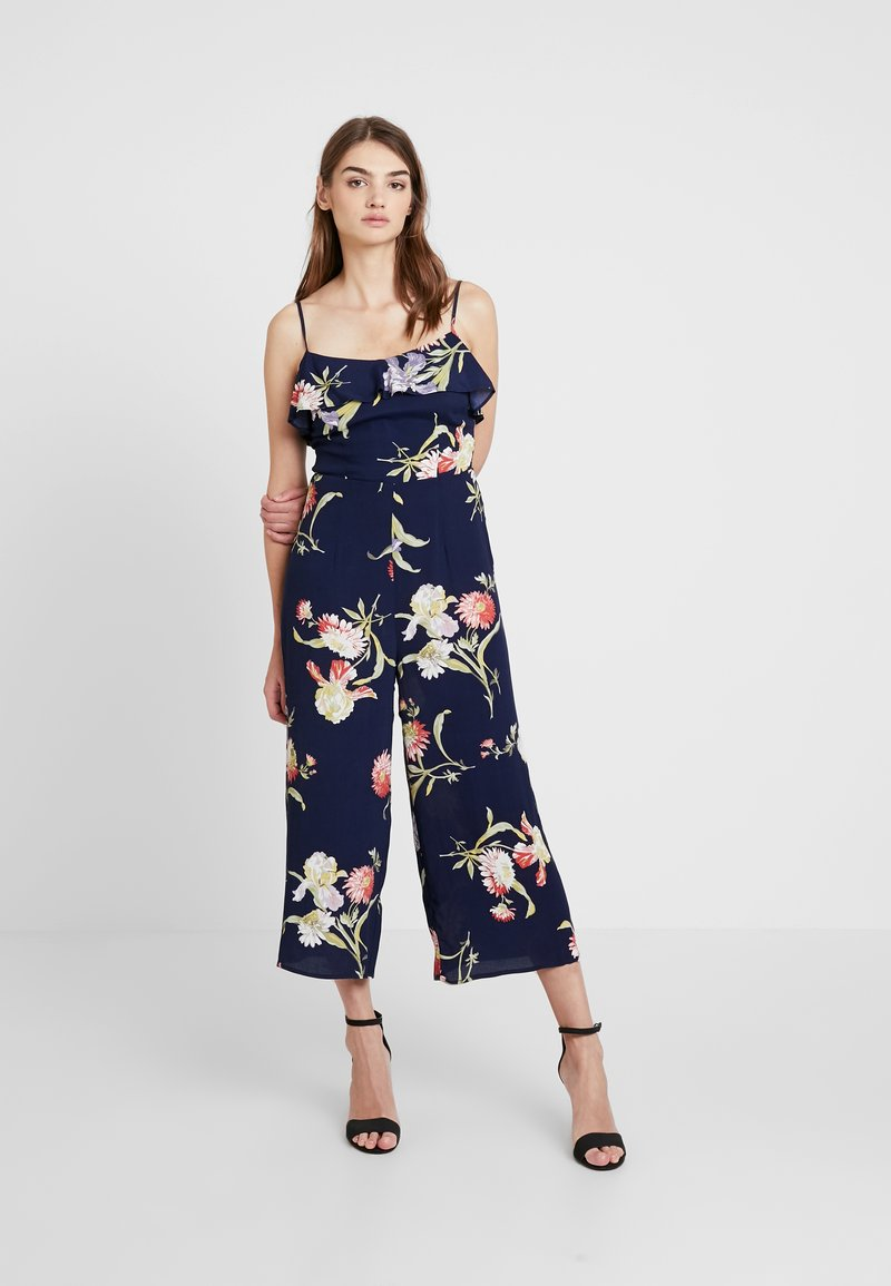 Warehouse - FLORAL - Overal - navy
