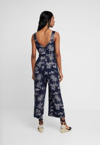 Warehouse - ALOHA PRINT - Jumpsuit - navy - 3