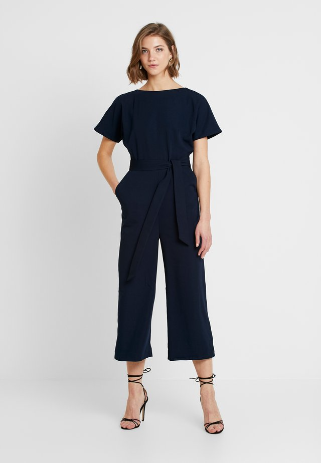 SLASH NECK - Jumpsuit - navy