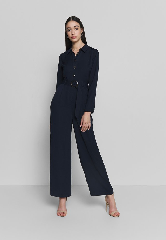 BUTTON THROUGH - Jumpsuit - navy
